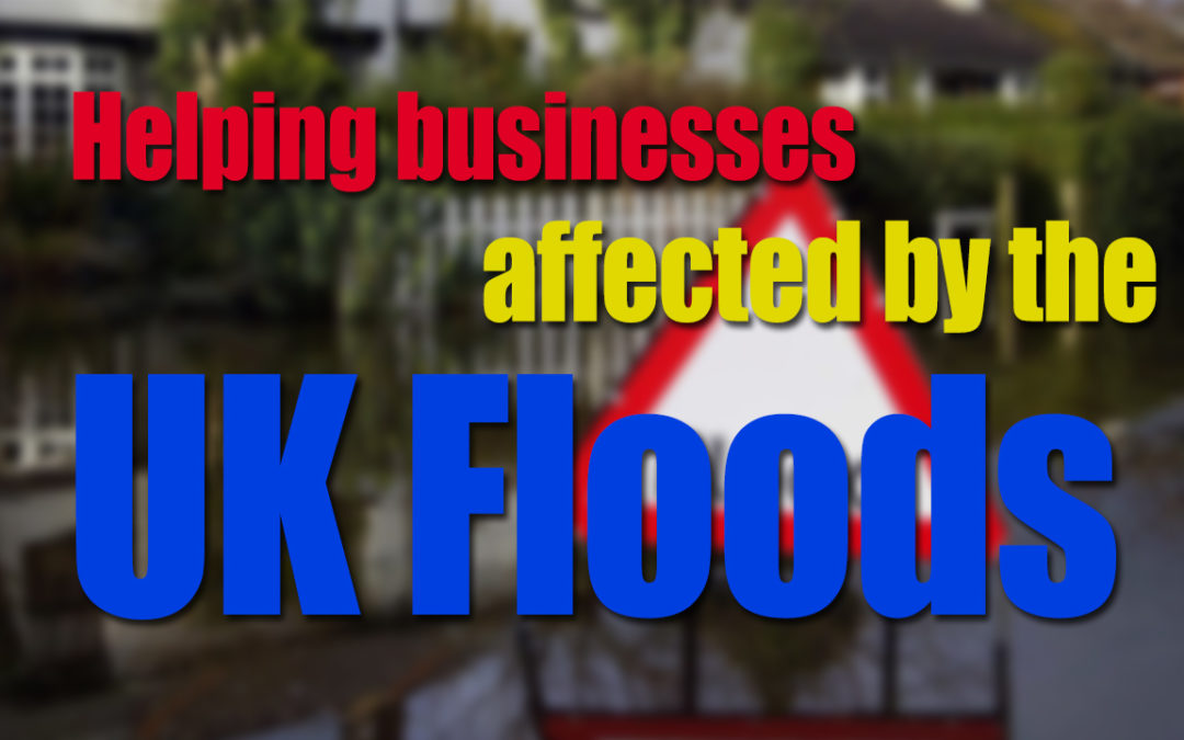 Helping small businesses affected by the UK floods