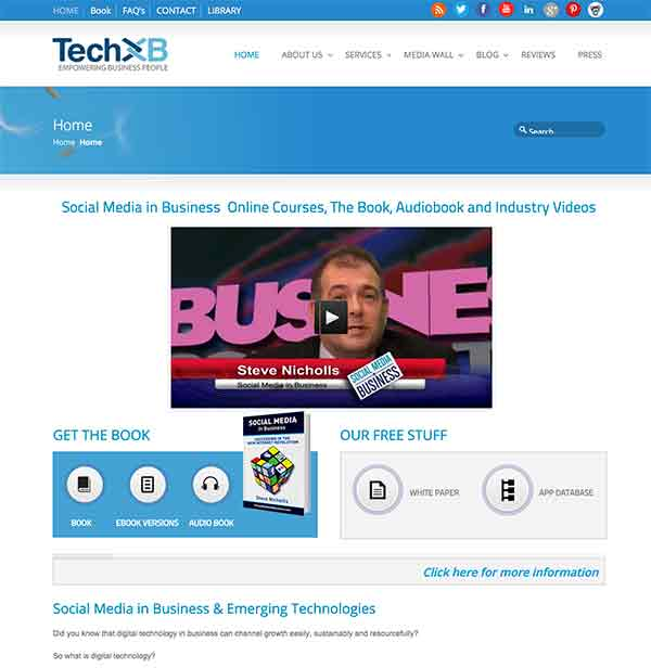 Tech XB Homepage